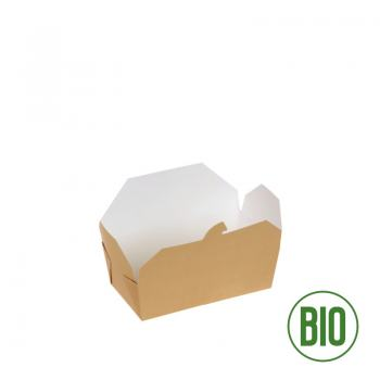 Bio Take-Away-Box L 1400ml Kraftpapier FSC® PLA-Beschichtung