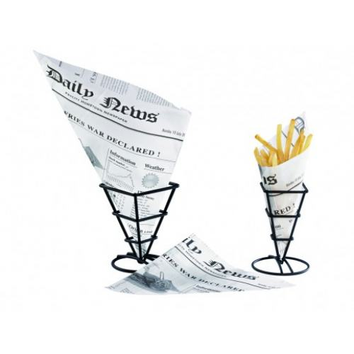 "Pommes-Spitztüte 660ml ""Newspaper"" 31,0x22,0x22,0cm"