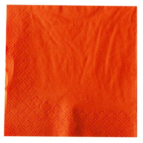 Cocktailserviette 24x24cm 1/4 Falz 3-lagig orange